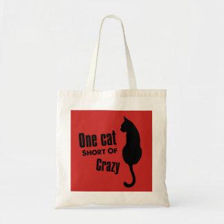 Sac fourre-tout fou à Madame Funny Meow de chat