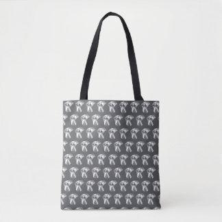 sac fourre-tout géométrique à tulipes