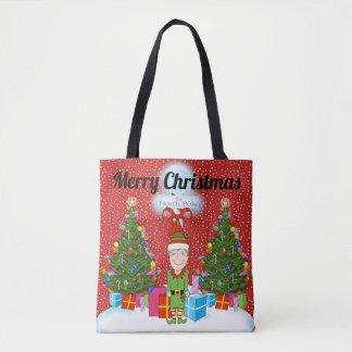 Sac fourre-tout heureux à Noël d'Elf