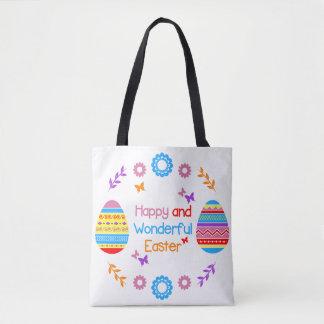 Sac fourre-tout heureux et merveilleux à Pâques