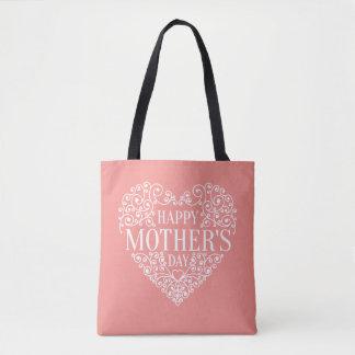 Sac fourre-tout heureux lunatique au jour de mère