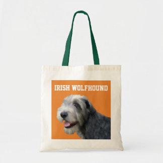 Sac fourre-tout illustré à chien-loup irlandais