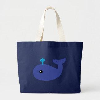 Sac fourre-tout mignon à éléphant de baleine