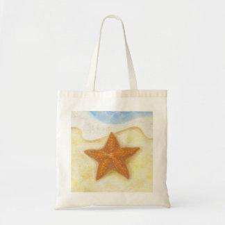 Sac fourre-tout orange à étoiles de mer