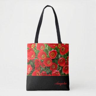 Sac fourre-tout personnalisé par tulipe rouge