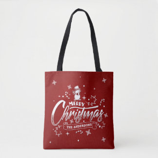 Sac fourre-tout personnalisé simple à Noël de