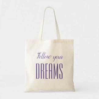 Sac fourre-tout pourpre/violet minimaliste à rêve