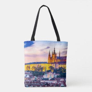 Sac fourre-tout Prague à impression de coutume