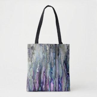 Sac fourre-tout rêveur à art abstrait de lilas et