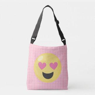 Sac fourre-tout rose à Emoji de coeurs d'amour de