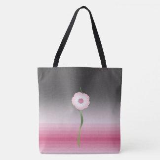 sac fourre-tout rose à salutation de moonflower de