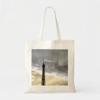 sac fourre tout tour Eiffel or et argent
