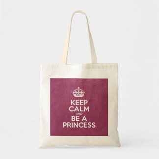Sac Gardez le calme et soyez une princesse - cuir rose
