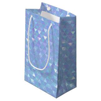 Sac géométrique iridescent de cadeau