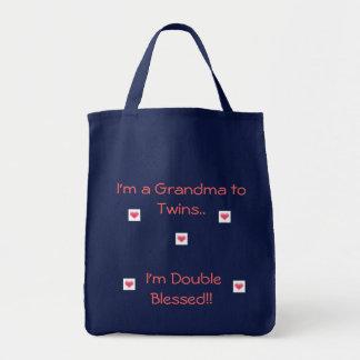 Sac Grand-maman aux jumeaux/double béni