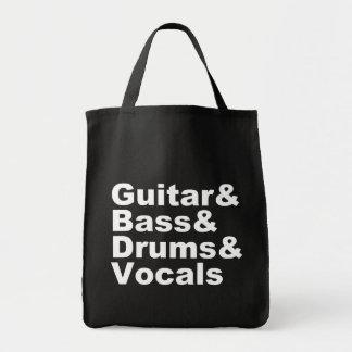 Sac Guitar&Bass&Drums&Vocals (blanc)