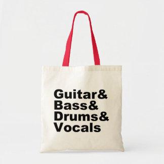 Sac Guitar&Bass&Drums&Vocals (noir)