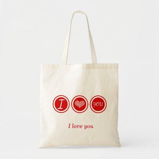 SAC I LOVE YOU RED HEART BAG