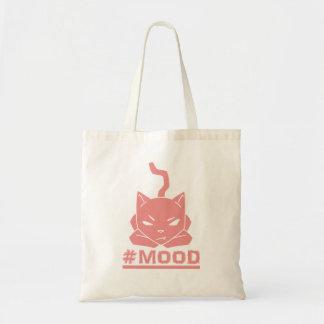 Sac Illustration de logo de rose de chat de #MOOD
