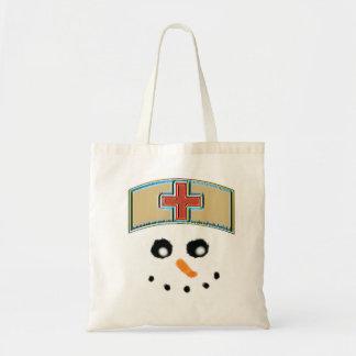 Sac Infirmière fourre-tout de bonhomme de neige