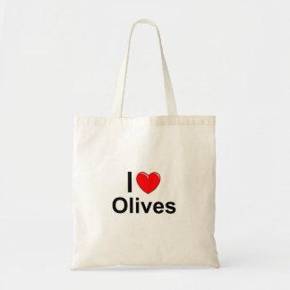 Sac J'aime des olives de coeur