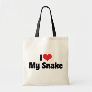 Sac J'aime le coeur mon serpent - amant de serpent