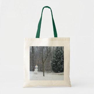 Sac La photographie de neige d'hiver du bonhomme de