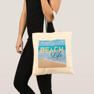 Sac La vie de plage. Océan tropical d'Aqua de paradis