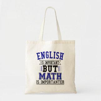 Sac L'anglais est important mais les maths sont