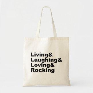 Sac Living&Laughing&Loving&ROCKING (noir)