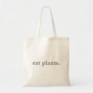 Sac Mangez la conception minimale de plantes