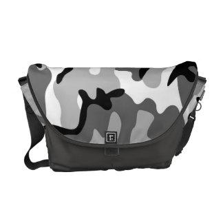 Sac messenger à camouflage de gris et de noir sacoches