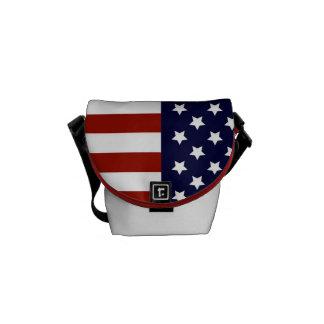 Sac messenger à drapeau américain sacoches