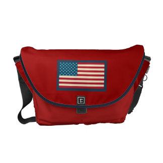 Sac messenger à drapeau américain besace