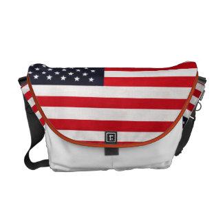 Sac messenger à drapeau américain besaces