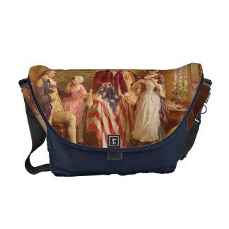 Sac messenger à drapeau américain de Betsy Ross Sacoche
