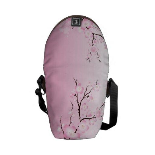Sac messenger à fleurs de cerisier - petit besaces