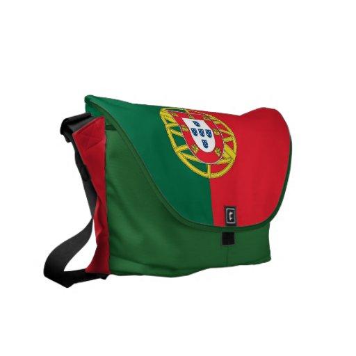 Sac messenger à Rickshaw de drapeau du Portugal Sacoches