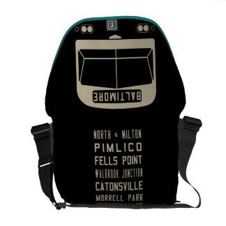 Sac messenger à rouleau d'autobus de Baltimore Flx Sacoches