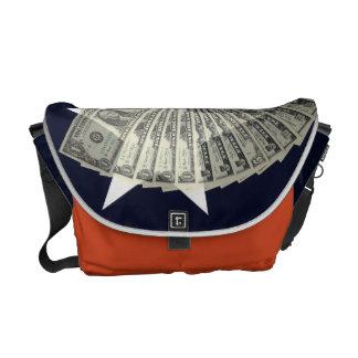 Sac messenger américain à argent besace