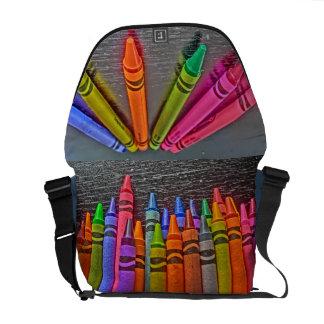 Sac messenger artistique à crayon coloré sacoches