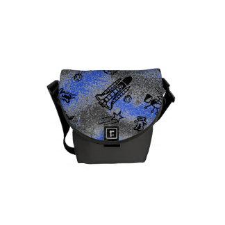 Sac messenger bleu à Rickshaw de l'espace Sacoches