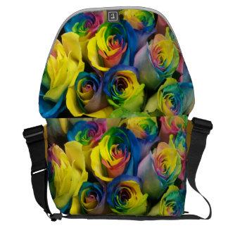 Sac messenger coloré à image de roses sacoches