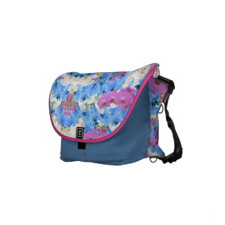 Sac messenger coloré floral à tulipes sacoches