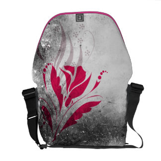 Sac messenger floral rose grunge élégant sacoche