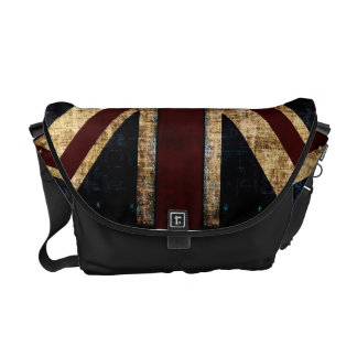 Sac messenger grunge à Union Jack Sacoches