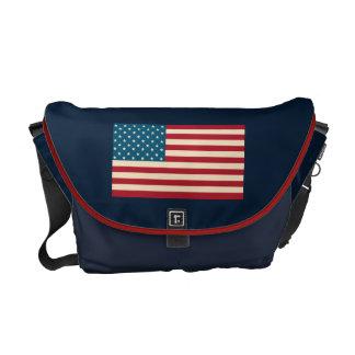 Sac messenger patriotique à drapeau américain besaces