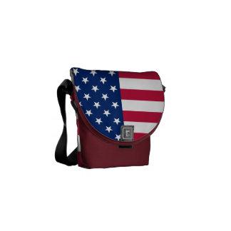 Sac messenger patriotique à étoiles de drapeau besace