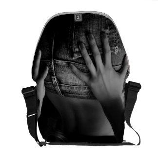 Sac messenger urbain à la fille B/W de jeans Sacoches