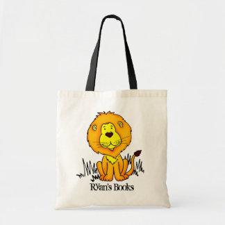 Sac mignon de bibliothèque de grand chat de lion